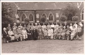 A group of church members and their Vicar undated