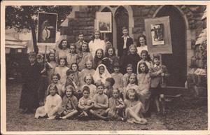 A group of children in HTB church pageant undated