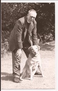 Revd John Pumfrey with Rex